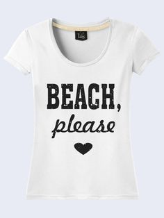 52e1a4a1 Beach Please Funny Summer Workout Camping Womens T-Shirt Short Sleeve Size  XS-XL