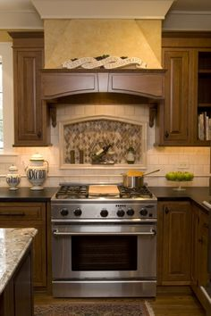 Kitchen On Pinterest Tan Brown Granite Range Hoods And Wood Range Hoods