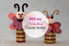 Turn a recycled water bottle into this andy-filled treat for your Valentine.  http://sophie-world.com/videos/recycled-valentines-candy-bee  #sophieworld #bee #valentine #valentinesday