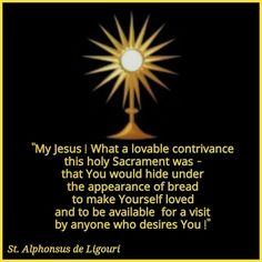 The Holy Eucharist - a gift to us.