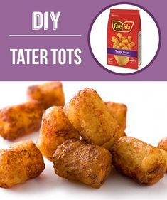 29 Foods You Didnt Know You Could DIY Cinnamon Toast Crunch sprinkles tater tots bagels cream cheese and I Love Food, Good Food, Yummy Food, Homemade Tater Tots, Diy Snacks, Cinnamon Toast Crunch, Diy Food, Homemade Food, Homemade Things