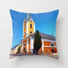 The village church of Alberndorf in der Riedmark 2 Throw Pillow by patrickjobst Throw Pillows, Home Decor, Toss Pillows, Decoration Home, Cushions, Room Decor, Decorative Pillows, Decor Pillows, Home Interior Design