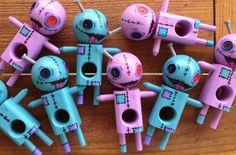 A cross between urban toy art and a kendama (ancient japanese skill toy). You can paint and draw on them to customize them any way you like, and then play with them afterwards to develop your hand-eye coordination. VooDama Dolls are creative, addictive fun! http://sweetskendamas.com/product-category/voodama-2/