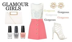 """Gorgeous Glamour Girls"" by monique-joanne ❤ liked on Polyvore featuring Miss Selfridge, Charlotte Russe, Miu Miu, New Look and OPI"