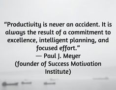 Paul J. Meyer #quote