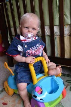 """OOAK Reborn 26"""" Toddler Boy  Bryant  9 month old baby doll original art newborn"""
