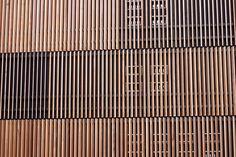Timber screen building facade