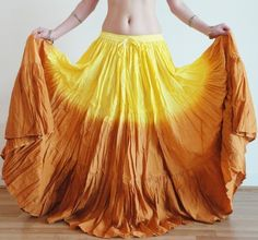 ebay. $24. 25 Yard 4 Tier Skirt Belly Dance Tribal 100%  cotton dip die dual color India