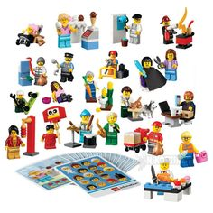With the LEGO® Community Minifigure Set, children will construct characters representing different roles, professions and cultures while role-playing. Includes 21 community LEGO® minifigures and 21 game cards. Lego Duplo Sets, Lego Minifigs, Lego City Sets, Buy Lego, Building For Kids, Building Toys, Developmental Toys, Toys Online, Lego City