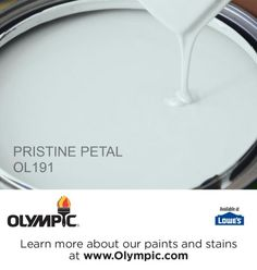 PRISTINE PETAL OL191 is a part of the aquas collection by Olympic® Paint.