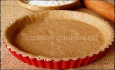 Masa para tarta salada integral .La masa quebrada para tarta ( masa sablé en francés) es una masa base para la preparación de muchas tartas o quiches tanto dulces como sala