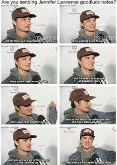 Josh talks about Jen's award-winning skills.