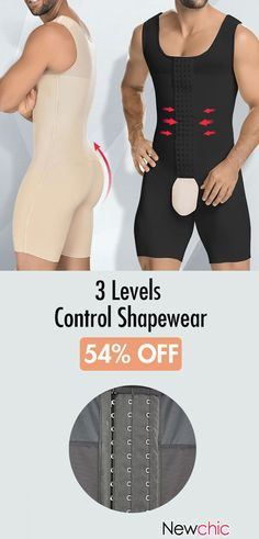 Onesies Abdomen Control Perfect Shapewear 3 Levels Hasp Body Shaper Slimming Underwear for Men Body Shaper For Men, Lingerie For Men, Swag Style, Costume, Male Body, Mens Fitness, Shapewear, Comfortable Shoes, Onesies