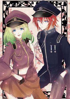 Sousei no Onmyouji Hot Anime Guys, I Love Anime, Me Me Me Anime, Manga Art, Manga Anime, Anime Art, Sousei No Onmyouji Benio, Twin Star Exorcist, Fantasy Couples