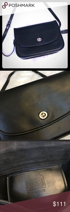 VTG Coach leather crossbody Amazing condition! Perfect size for day or night. This will soon become a favorite! Coach Bags