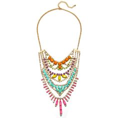 Layered Multicolored Rhinestone Necklace by Piper Strand