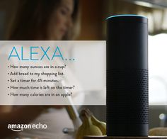 5 Kitchen Tools from Amazon Echo || Ask Alexa to help you convert measurements, give you calorie counts, set a timer, and add groceries to your shopping list while you're cooking or baking in the kitchen.