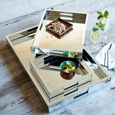 West Elm offers modern furniture and home decor featuring inspiring designs and colors. Create a stylish space with home accessories from West Elm. Mirror Tray, Vanity Tray, Mirrored Vanity, Table Mirror, West Elm, Glass Shadow Box, Butler Tray, Design Exterior, Interior Design