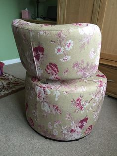Vintage tule fabric from Linwood - a helpful shot from the beck to show the finishing on this chair
