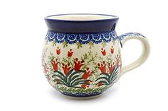 Polish Pottery Mug - 15 oz. Bubble - Crimson Bells *** Want to know more, click on the image. (This is an affiliate link and I receive a commission for the sales)