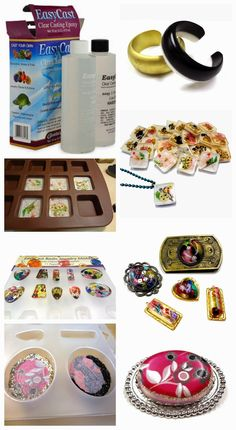 Resin Crafts: Our New Video About EastCast - Resin - Welcome Epoxy Diy Resin Crafts, Jewelry Crafts, Jewelry Art, Handmade Jewelry, Jewellery, Earrings Handmade, Resin Jewlery, Resin Jewelry Making, Resin Bracelet
