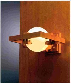 Frank Lloyd Wright wall sconce, designed for the Robie House; Chicago, Illinois