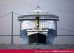 Size comparison: Titanic vs Allure of the Seas Cruise Ship