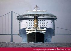 Size comparison: Titanic vs Allure of the Seas Cruise Ship