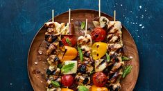 These chicken kebobs are all about the incredible marinade with flavors from Israel made in your home. Kabob Recipes, Beef Recipes, Recipies, Chicken And Beef Recipe, Chicken Recipes, Marinated Vegetables, Israeli Food, Honey Mustard Chicken, Preserved Lemons
