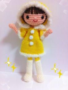 Cute inspiration (unless you read Japanese) Love Crochet, Beautiful Crochet, Crochet Baby, Knit Crochet, Sock Toys, Crafty Projects, Amigurumi Doll, Crochet Animals, Crochet Dolls