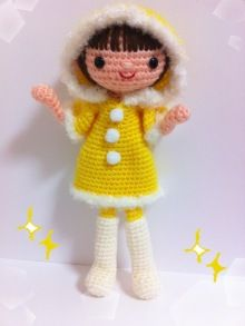 Amigurumi winter doll