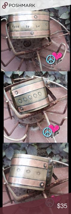 """Spotted while shopping on Poshmark: 🆕☮ """"Free to Be"""" Copper Cuff 🆒☮! #poshmark #fashion #shopping #style #Jewelry"""