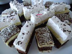 Reteta culinara Desert prajitura zi si noapte din categoria Prajituri. Specific Romania. Cum sa faci Desert prajitura zi si noapte Romanian Food, Romanian Recipes, Delicious Desserts, Dessert Recipes, Goodies, Sweets, Cheese, Cooking, Cake