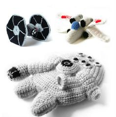 Ravelry: Patterns Star Wars Ships - 3 Crochet PDF Patterns pattern by Ana Yogui