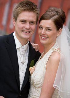 Det smukke brudepar på Kastellet i København