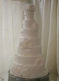 White Rose Wedding Cake | Flickr - Photo Sharing!