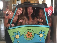 Photo booth props inspired by Scooby Doo scoobydoo Mystery machine photo booth props