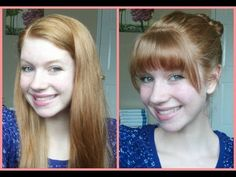 How To Cut Your Own Bangs/Fringe at Home! It's a long chatty video, but they were done.