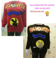 NEW LADIES WOMENS MENS HALLOWEEN UNISEX NOVELTY KNITTED SWEATER WOOL  #HOTRANGE #Jumpers