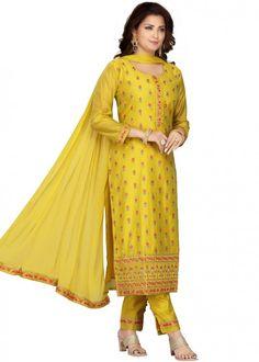 #yellow #embroidered #readymade #salwar #kameez #traditional #indian #salwar #suit #indianfashion #party #wear #collection #eid #2021 #ootd Readymade Salwar Kameez, Churidar, Chanderi Suits, Salwar Suits, Diwali, Trouser Suits, Trousers, Buy Suits, Plus Size Suits