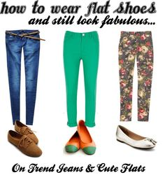 """""""How To Wear Flat Shoes & Still Look Fabulous - Jeans"""" by bbeingcool-1 on Polyvore"""