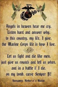 Semper Fi  <3 Four Marines in my family currently serving.