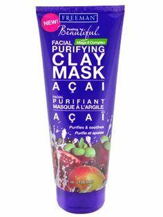 Freeman R Acai Facial Purifying Clay Mask -150 ml: Amazon.co.uk: Beauty