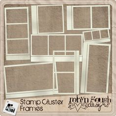 Stamp Cluster Frames by Robyn Gough, available on Etsy. digiscrapping, digital scrapbook, digiscrap