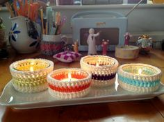 "Free pattern for ""Tea Light Holder Covers""!"