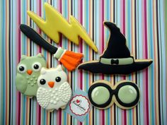 Harry Potter Cookies Cookieria By Margaret,biscoito decorado, bolacha decorada