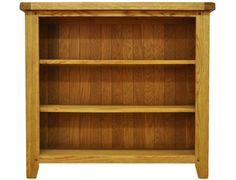 Tunstall Rustic Oak Small Wide Bookcase TN STM SWBC