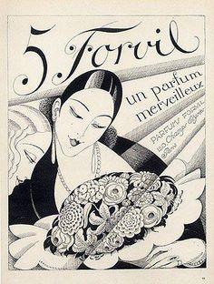 Numéro 5 by Forvil Parfumes by Gerda Wegener, advertising Illustration, 1927 Vintage Labels, Vintage Ads, Vintage Posters, Art Deco Illustration, Harlem Renaissance, Art Nouveau, The Danish Girl, Vintage Perfume, Perfume Ad