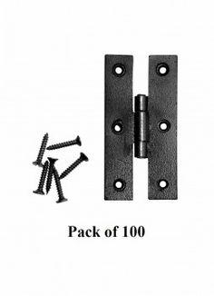 100 Cabinet Hinge Black Wrought Iron H Flush 3u0027u0027 H
