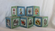 Retro Alice in Wonderland Alphabet ABC Nursery Baby Shower Décor Blocks by TheBlockSpot, $22.50